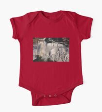 Aerial View of Niagara Falls with Snow and Ice One Piece - Short Sleeve
