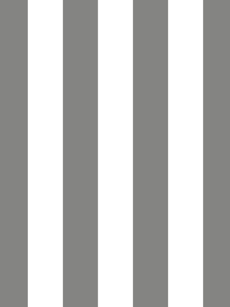 Large Battleship Gray and White Vertical Cabana Tent Stripes by honorandobey