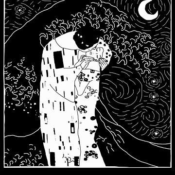 El beso bajo la noche estrellada - mínimo. de FandomizedRose