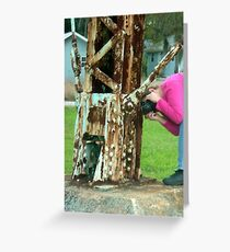 AuntDot With Her Head In the Rust Greeting Card