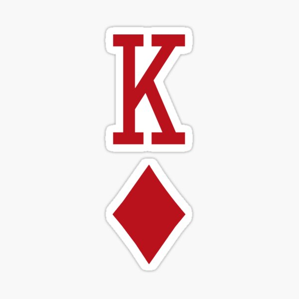 King of Diamonds Red Playing Card Sticker