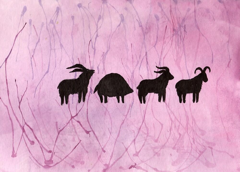 Animal Procession by Linda Ursin