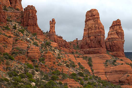 Two Nuns and the Madonna and Child (Sedona) by Barb White