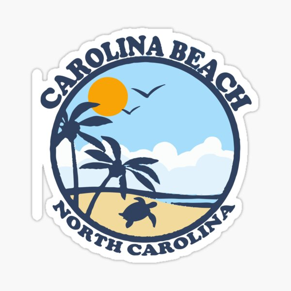 Carolina Beach - North Carolina.  Sticker