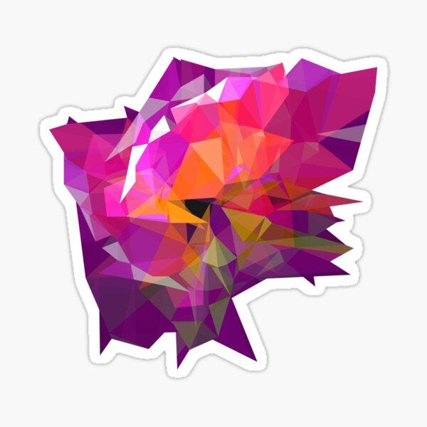 pink polygone attack Sticker