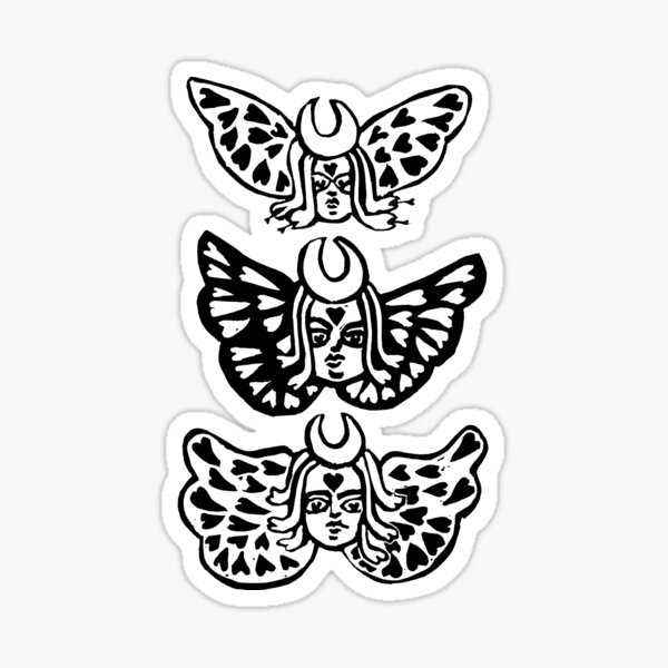 Judgement tarot (black) Sticker