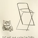 pet cat and laundry trolley sans wheels circa 1974 by donna malone