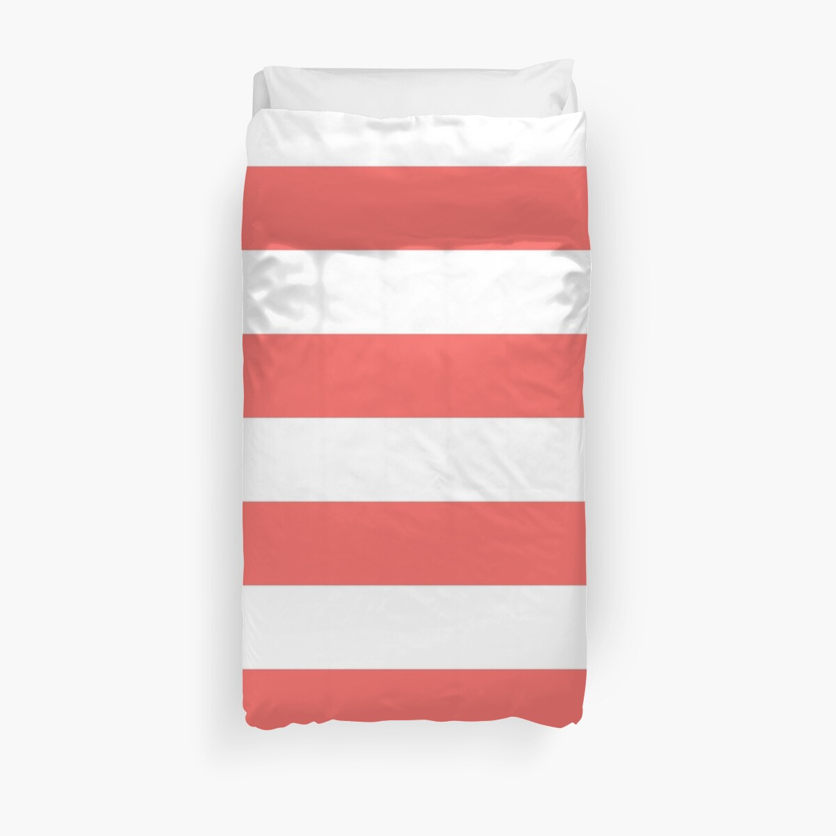 Large Bean Red and White Horizontal Cabana Tent Stripes by honorandobey