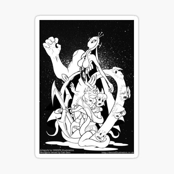 Skullgirls- Double Sticker