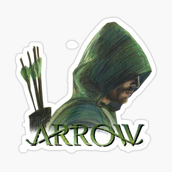 Flecha verde Pegatina