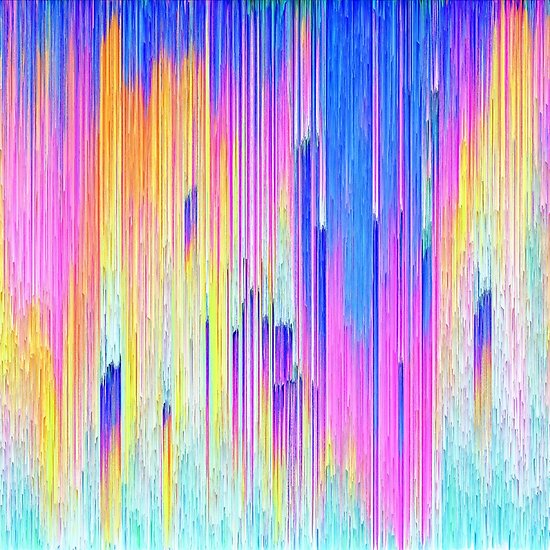 Abstract dripping digital paint