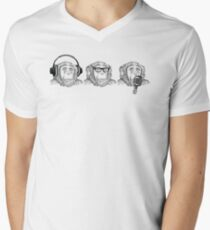 Hear Evil, See Evil, Speak Evil Men's V-Neck T-Shirt