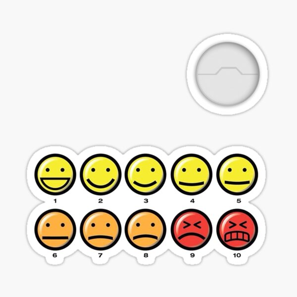On a scale of 1-10 how would you rate your pain? Sticker