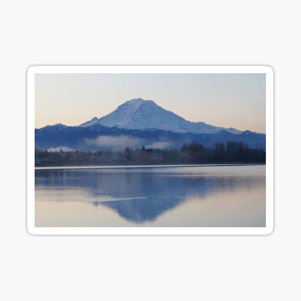 Mt. Rainier in the Morning Sticker
