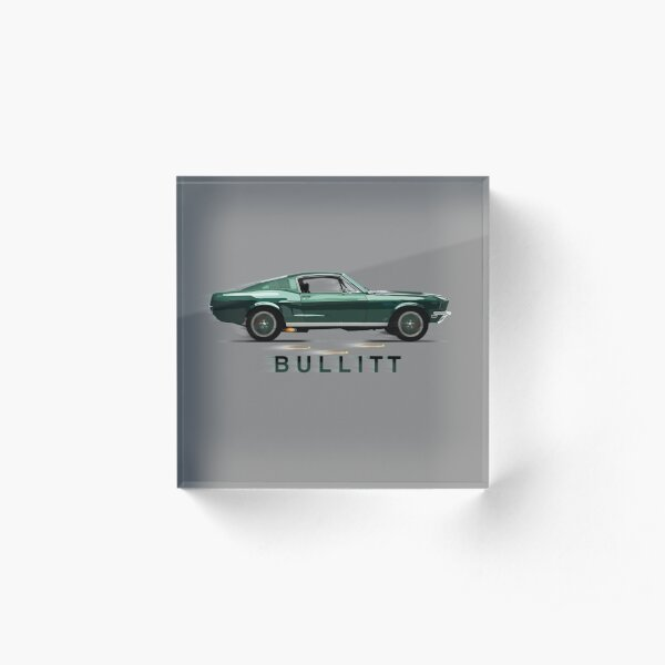 The Mythical Ford Mustang GT 390 Bullitt Car by MotorManiac Acrylic Block