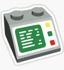 Spielzeug Brick Computerkonsole Sticker