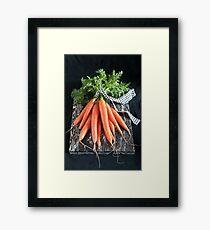 Carrots on Black Framed Print