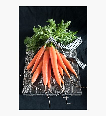 Carrots on Black Photographic Print