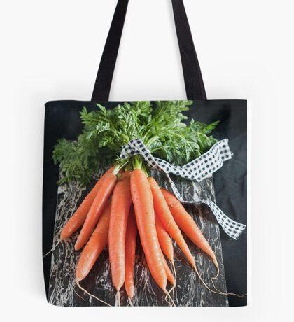 Carrots on Black Tote Bag