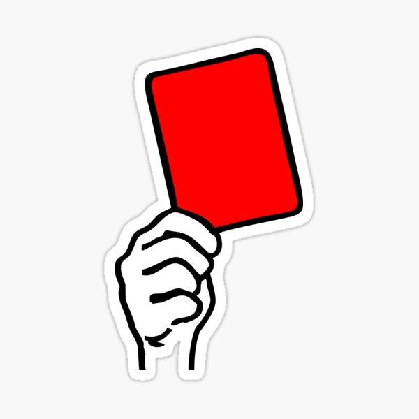 Foul - red card Sticker