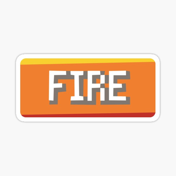Fire Type Sticker