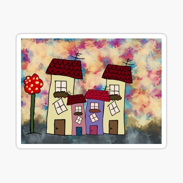 Lovely houses Sticker