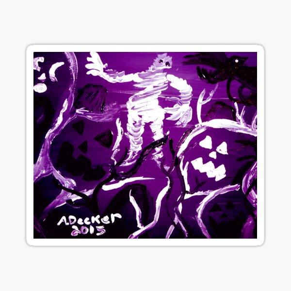 Halloween Shadows Violet Remix Sticker