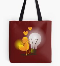 A cute little idea! Glow worm with light bulb Tote Bag