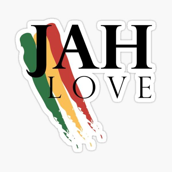 Jah Love ( BLACK ) Sticker