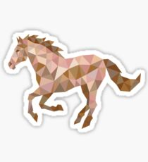 Running Horse Lowpoly Sticker
