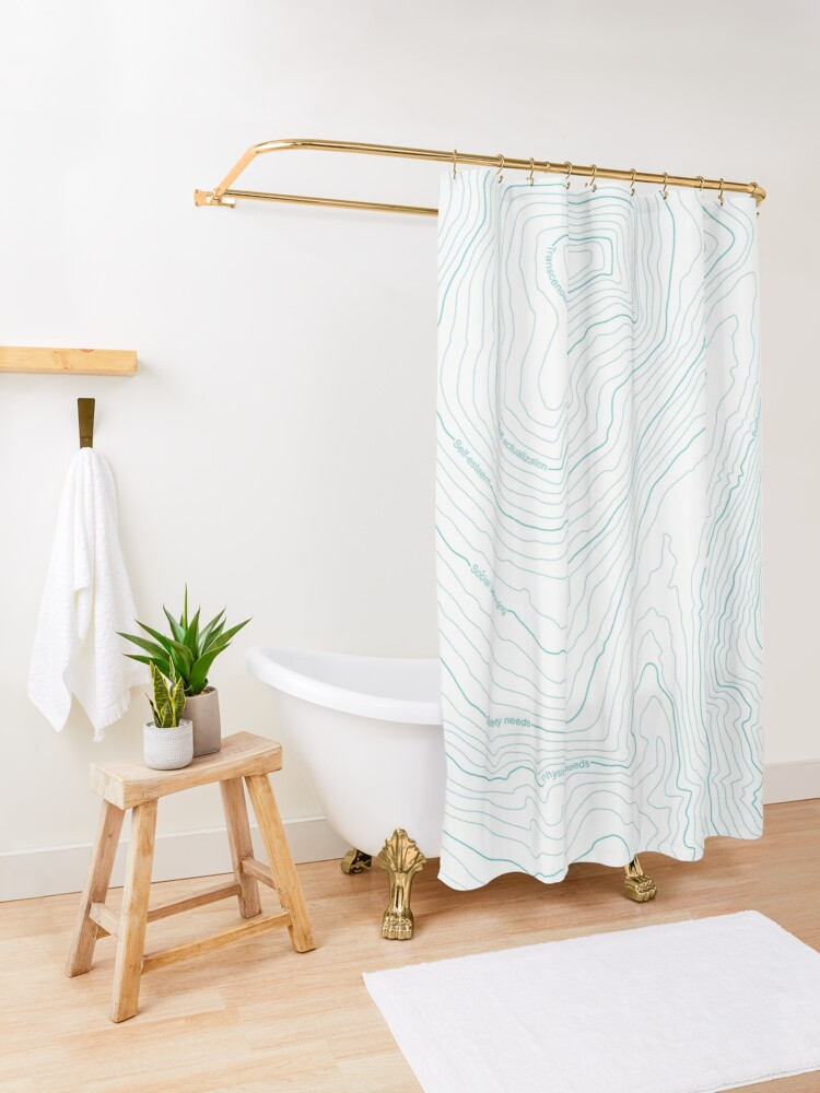 Alternate view of Psychology things - Maslow's HIERARCHY of NEEDS Shower Curtain