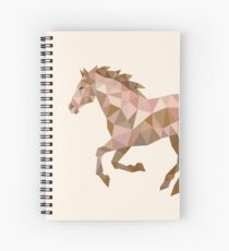 Running Horse Lowpoly Spiral Notebook