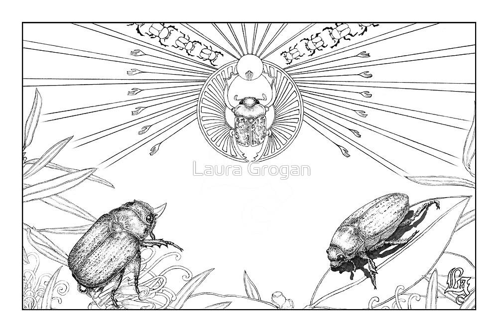Scarab beetles and the ancient Egyptian god 'Khepri' by Laura Grogan