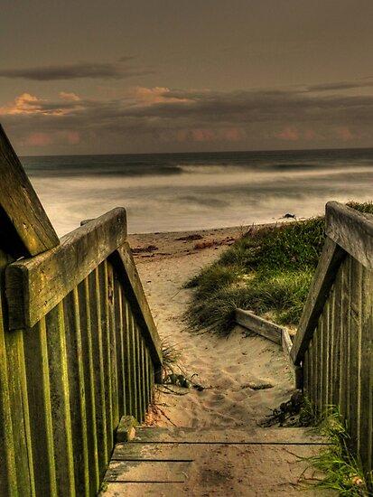 Old Bar beach walkway by Conor  O'Neill