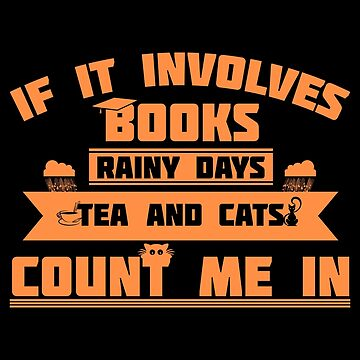 Book Lover Reading Books Rainy Days Tea Cats by KanigMarketplac