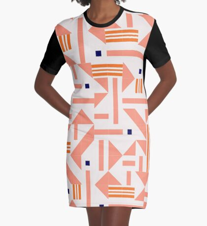 Random Tiles #redbubble #pattern Graphic T-Shirt Dress