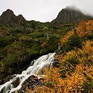 Cradle Peaks in Autumn Flow by Robert Mullner