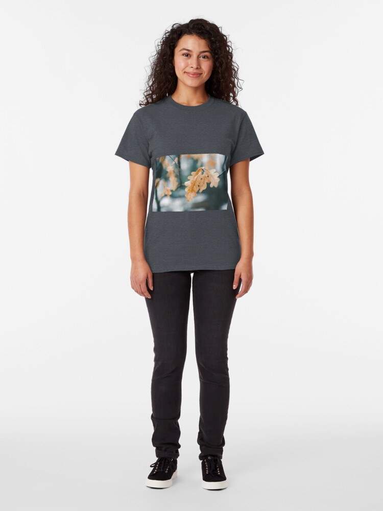 Alternate view of Dry yellow leaves in small oak tree Classic T-Shirt