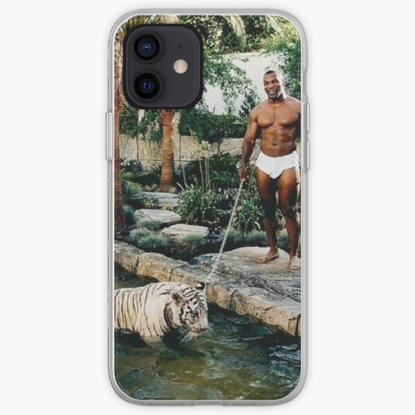 Mike Tyson with his Tiger iPhone Soft Case