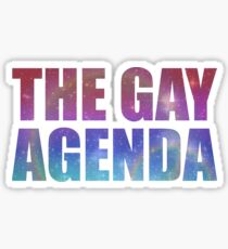 The Gay Agenda Sticker