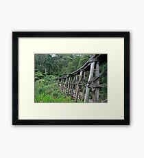 Puffing Billy Bridge, Selby Framed Print