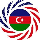 Azerbaijani American Multinational Patriot Flag Series by Carbon-Fibre Media