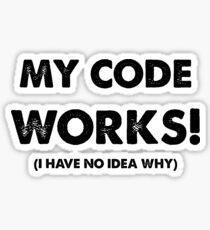 Pegatina Mi código funciona