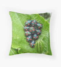 Guess Who Had Baby Beetles. Throw Pillow
