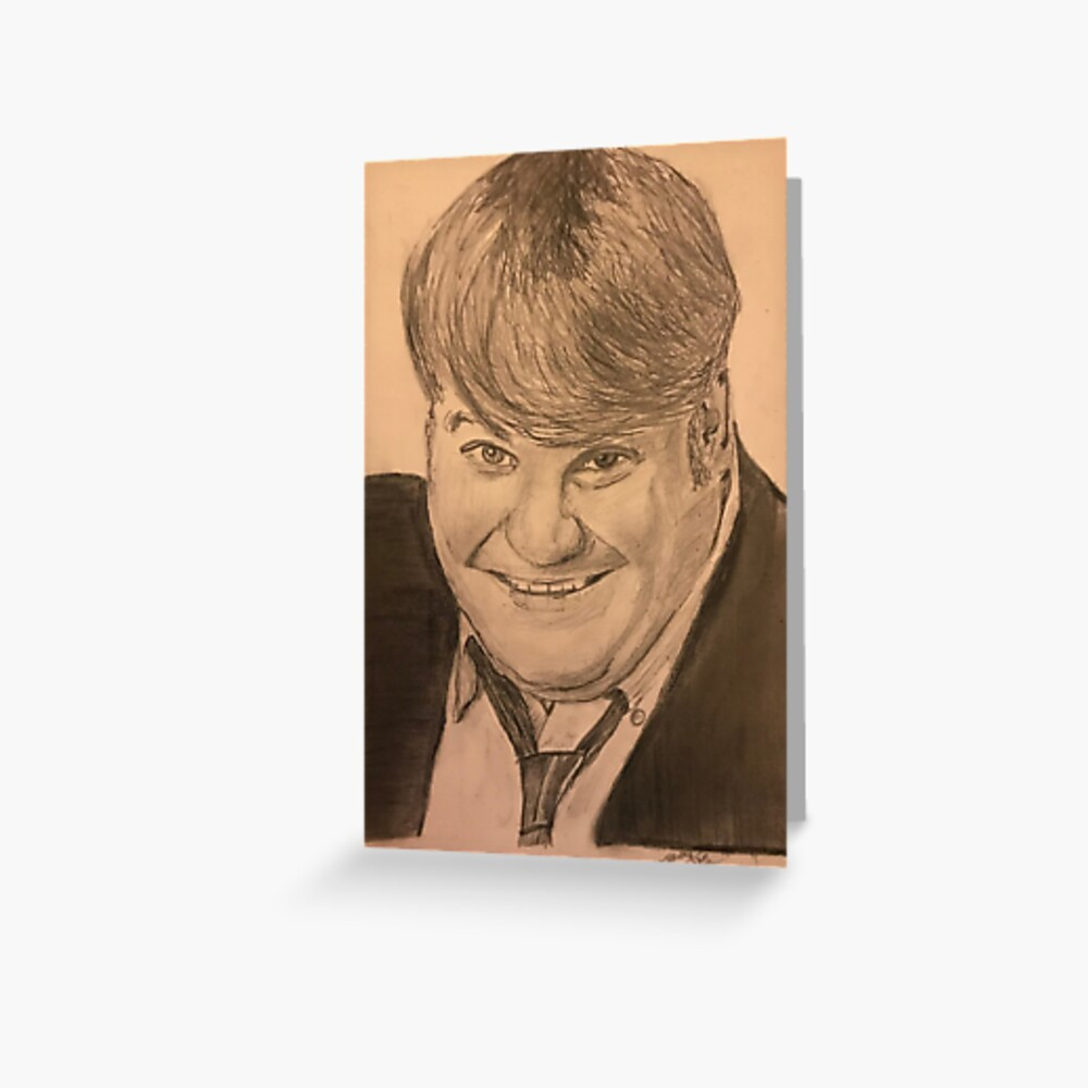 Chris Farley - Hand Drawn Greeting Card