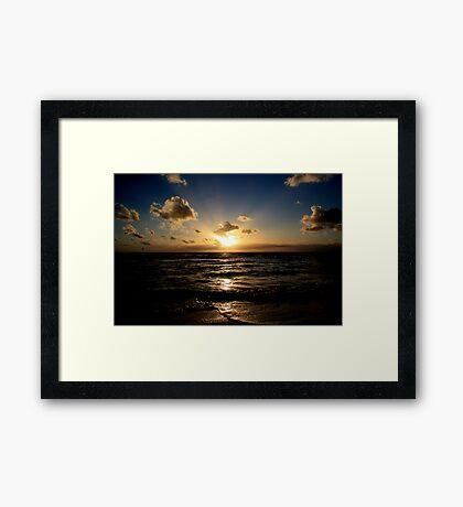 Sun salutation Framed Print