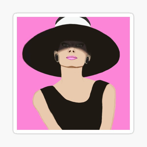 Audrey Hepburn Breakfast at Tiffanys Sticker