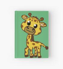 Baby Giraffe Cartoon Hardcover Journal