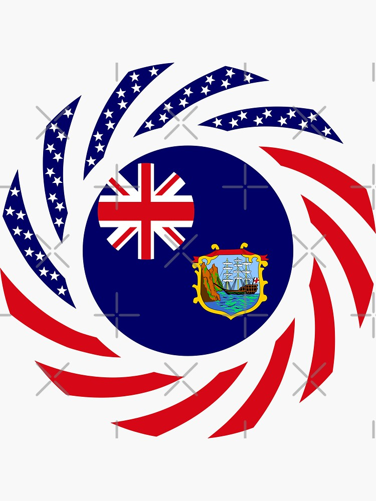 Saint Helena American Multinational Patriot Flag Series by carbonfibreme