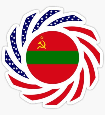 Transnistrian American Multinational Patriot Flag Series Sticker